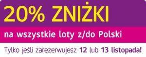 Wizz Air promocja_12-13 listopada