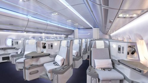 Finnair A350 XWB Business Class Cabin 01 cruise LRnew
